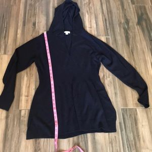 New York & Co long hooded sweater